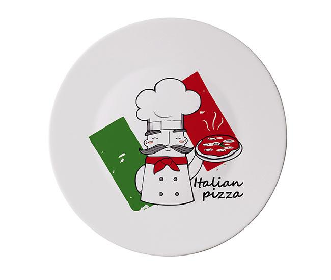 Bormioli skleněný talíř na pizzu Pizza 33 cm