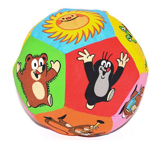 Wiky Textilní míček s chrastítkem Krteček 15 cm