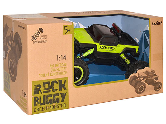 Wiky RC auto Rock Buggy Green monster