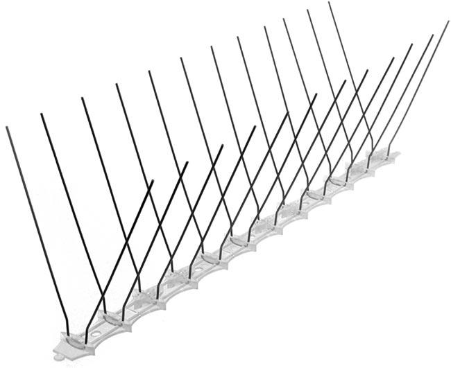 Ochrana proti holubům 1001, 24 x hroty 11 cm, základna 34 cm