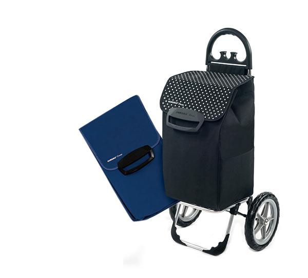 Velká nákupní taška na velkých kolečkách Berlino 78 l, modrá
