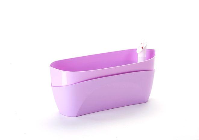 Truhlík samozavlažovací  Doppio 38 cm, fialová
