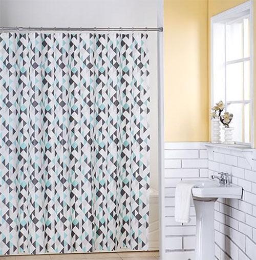 Sprchový závěs s kroužky z PVC 6784, 180 x 180 cm