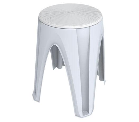 Plastová stolička do koupelny Stool 35 x 35 x 45,5 cm, bílá
