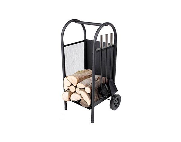 Stojan na palivové dřevo ke krbu s nářadím 244, 31 x 30 x 82 cm