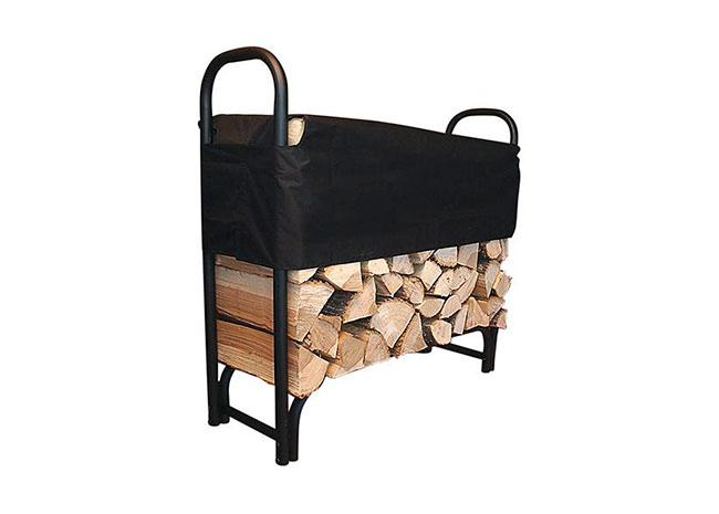 Dřevník kovový 245 na uskladnění dřeva FireWood 126 x 118 x 39 cm