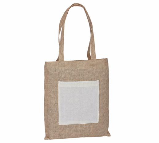 Jutová nákupní taška přes rameno Manisha 37 x 38 cm, přírodní
