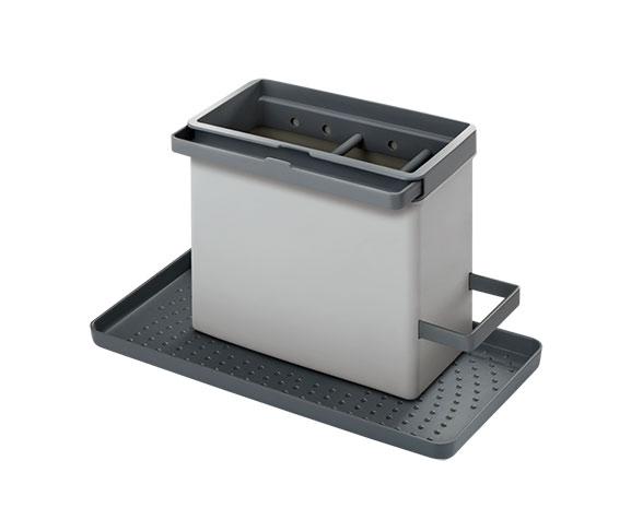 Organizér ke kuchyňskému dřezu Tidytex, ABS plast 24 x 13 x 14 cm, šedý