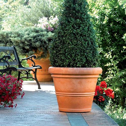 Velký plastový venkovní květináč Chianti průměr 50 cm, terakota