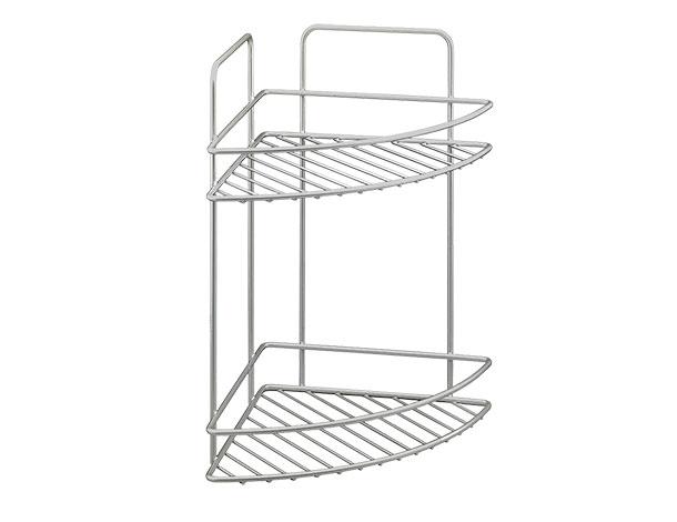 Rohová dvoupatrová polička na kuchyňskou linku Reflex 22 x 22 x 35 cm