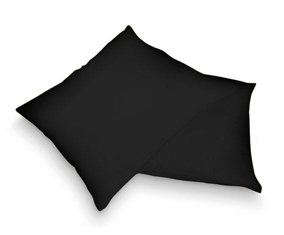 Froté povlak na polštář, černá 40 x 40cm.
