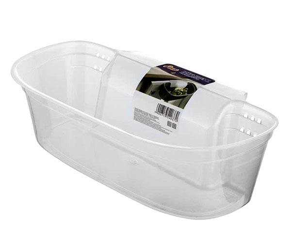 Závěsný odpadkový košík 2,2 l do kuchyně na dvířka 6822, 30 cm, transparentní