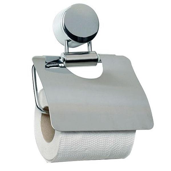 Držák na toaletní papír s krytem Inox, 16 x 13 cm, nerez