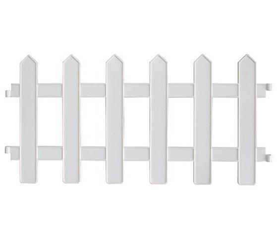 Nízké ozdobné plastové ploty 6547 4ks, 46 x 22 cm, bílá