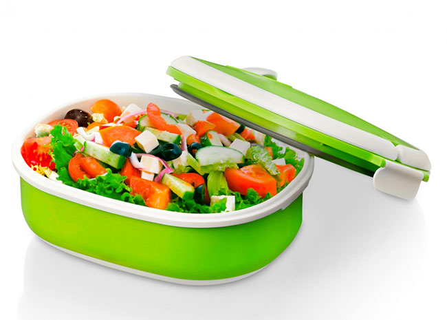 Termo miska na jídlo 6818 750 ml 19 x 15 x 8 cm, zelená