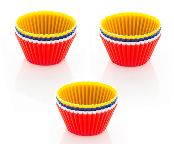 Silikonové košíčky na muffiny 6817, 12 ks 7 x 3,5 cm