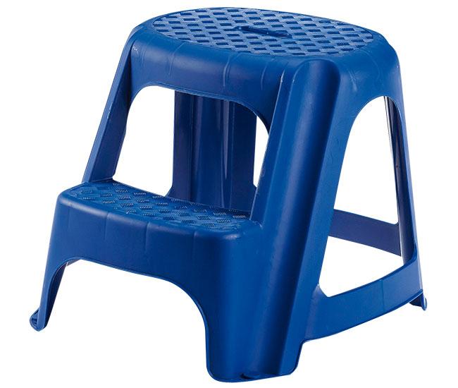 Plastové schůdky 2 stupně 40 cm, modrá
