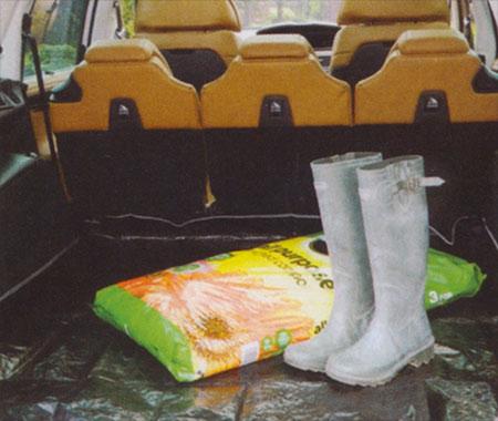 Ochranná plachta do kufru auta 6962, PE gramáž 130 g/m2, 140 x 200 cm, zelená