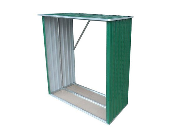 Kovový přístřešek na dřevo 189 x 76 x 191 cm, zelená