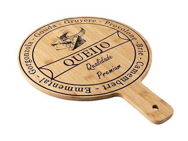 Krájecí prkénko na sýr Bambus průměr 30 cm