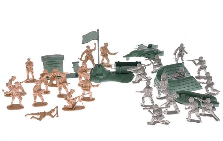 Vojáčci figurky a vojenská technika 80956, 42 ks