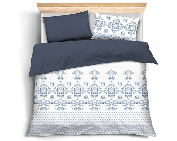 Saténové ložní povlečení Majolica 6710 100% bavlna 70 x 90, 140 x 200 cm