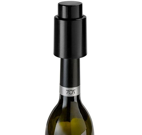 Vakuová zátka na víno 6901 73 mm, černá