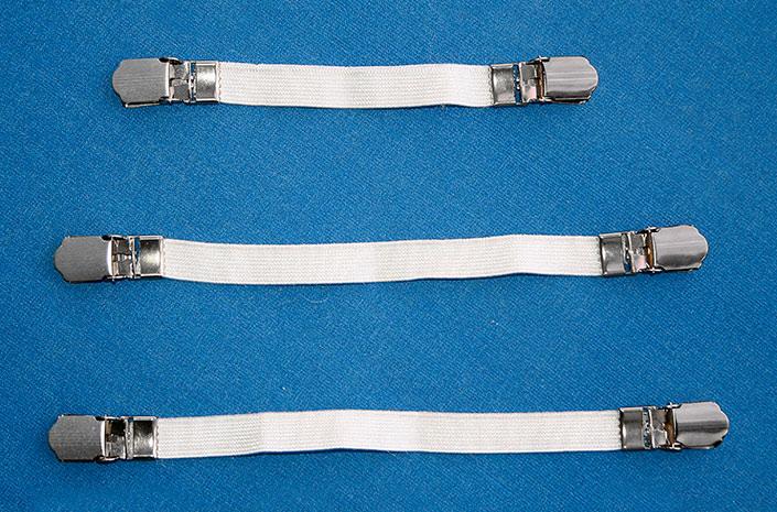 Klipy na napínání potahu na žehlící prkno 6568 3 ks, bílá