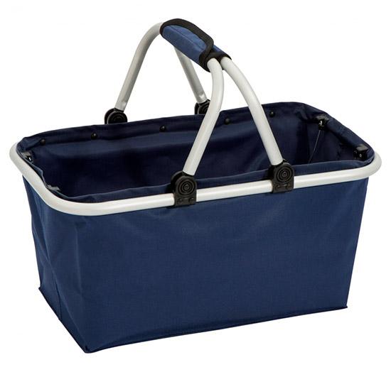Nákupní košík 0291 skládací, modrý