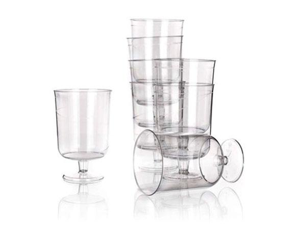 Plastová sklenice na víno 8 ks, jednorázové, Fortel