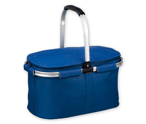 Nákupní košík skládací se zipem termoizolační 6827 Termo 46 x 25 x 27 cm, modrá