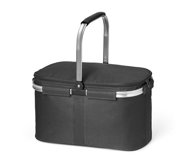 Nákupní košík skládací se zipem termoizolační 6827 Termo 46 x 25 x 27 cm, černá