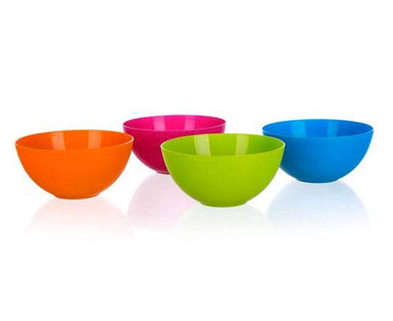 Plastové misky na jídlo kulaté 0490 4ks, 450 ml