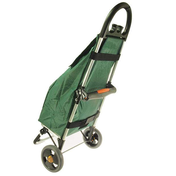 Skládací nákupní taška na kolečkách Venezia, 50 l, zelená