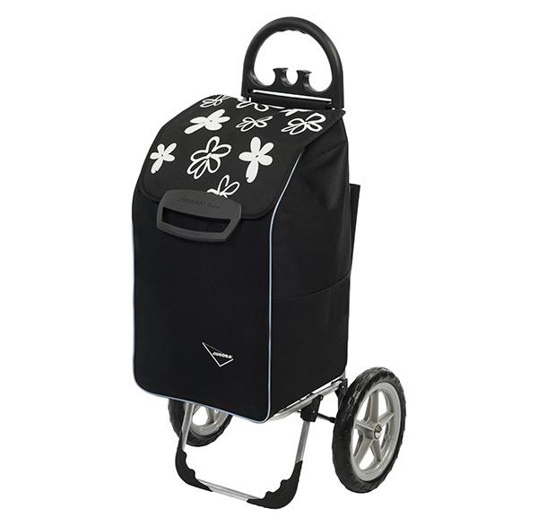 Velká nákupní taška na velkých kolečkách Berlino 78 l, černá