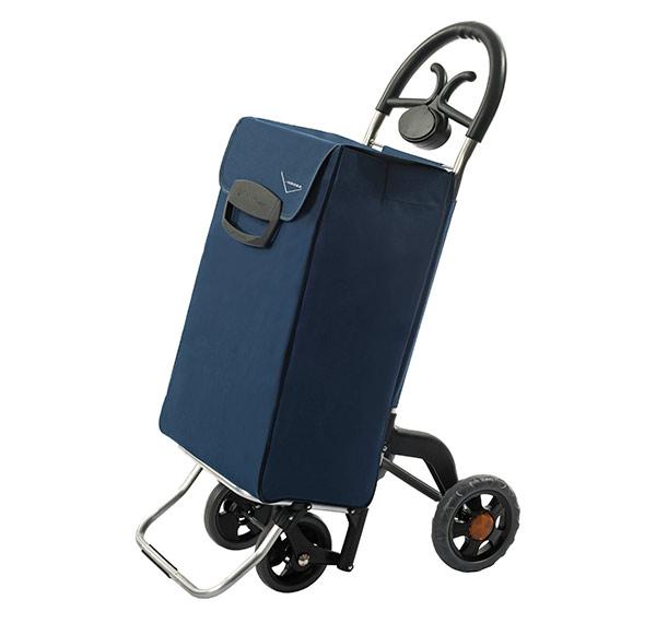 Bezpečná nákupní taška na kolečkách pro seniory Forza 4, modrá