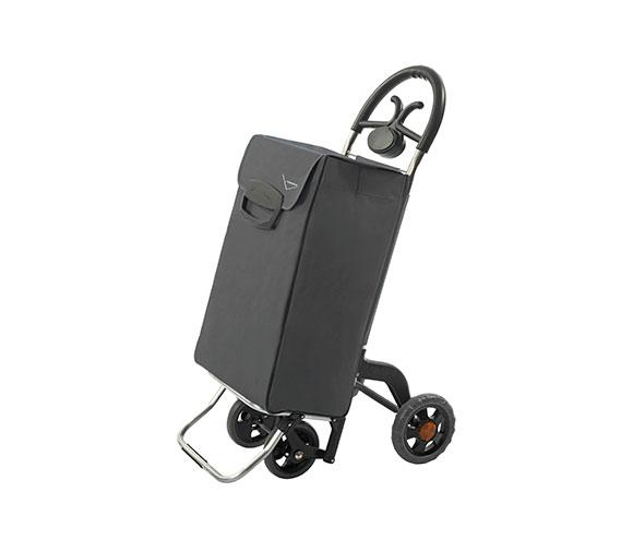 Bezpečná nákupní taška na kolečkách pro seniory Forza 4, šedá
