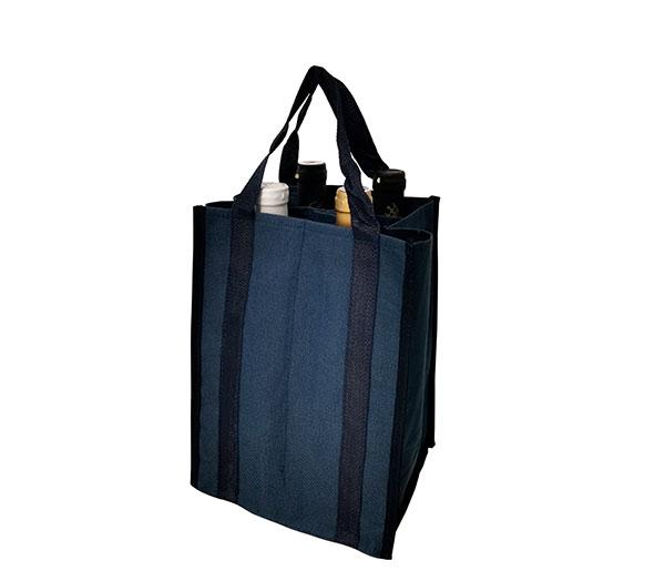Taška na láhve 0,7 - 2,5 l Bottle bag na 4 PET lahve 20 x 19 x 27 cm, modrá