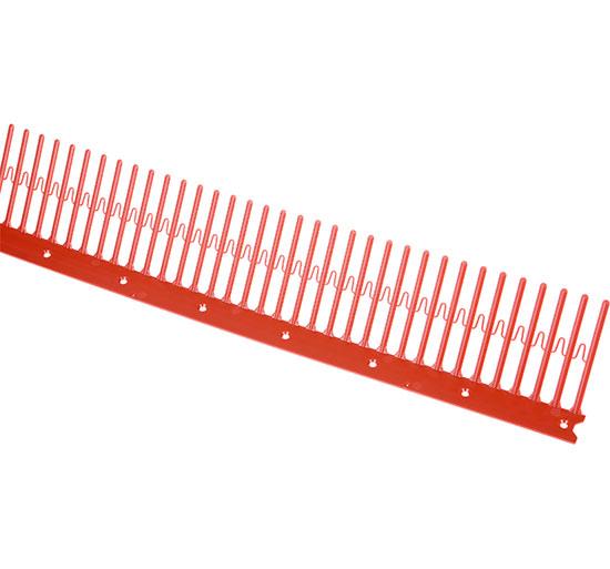 Ochranná střešní větrací mřížka 70 mm PVC, délka 1 m, cihlová