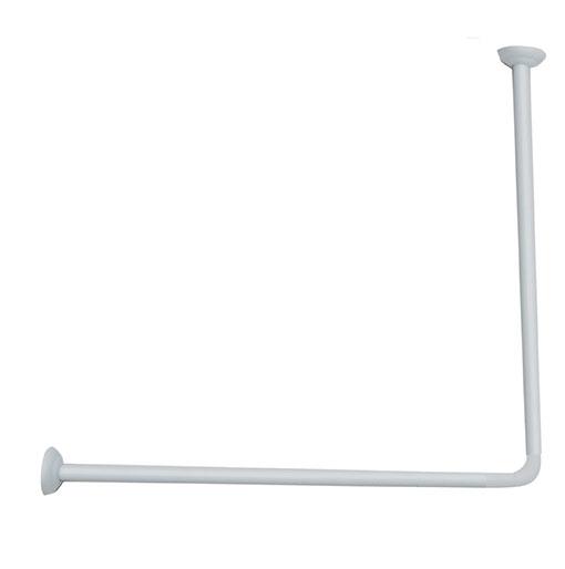 Rohová  tyč bílá, 80 x 80 cm