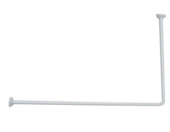 Rohová  tyč bílá, 100 x 120 cm