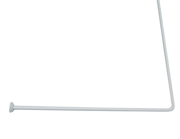 Rohová teleskopická tyč bílá, 80 x 94-180 cm