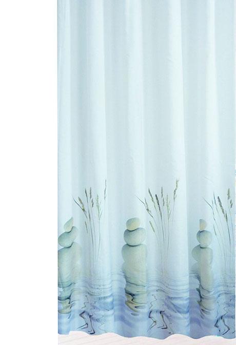 Koupelnový závěs textilie 672 Oblázky 180 x 200 cm