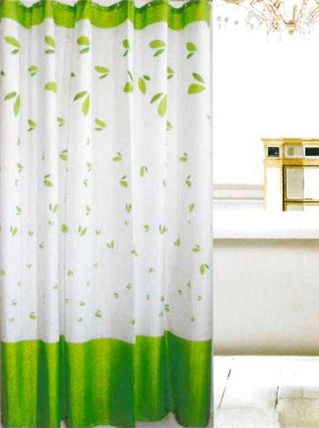 Koupelnový závěs PVC - Lívia 180 x 180 cm, zelená