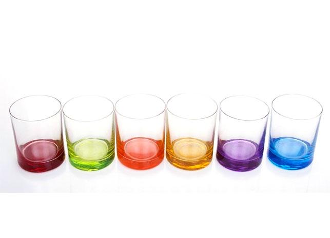 Sklenice barevná - 6 ks
