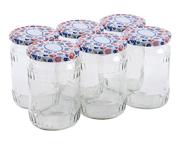 Zavařovací sklenice 720 ml se šroubovacím víčkem 82, 6 ks