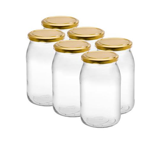 Zavařovací sklenice 900 ml se šroubovacím víčkem 82, 6 ks
