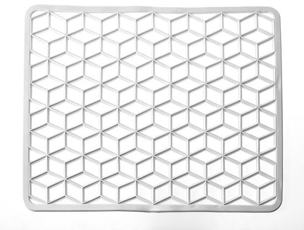 Podložka do dřezu obdélníková 36 x 30 cm, bílá