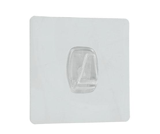 Háček U-fix do koupelny bez vrtání, opakovaně použitelný 1 ks, transparentní