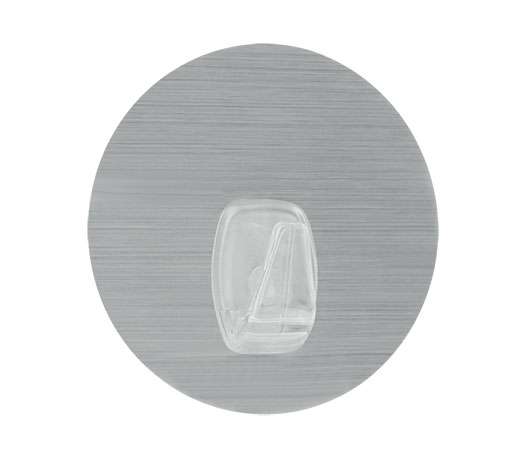 Háček U-fix do koupelny bez vrtání, opakovaně použitelný 1 ks, stříbrný